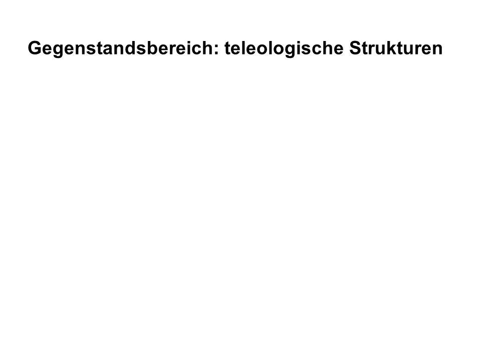 A hat den Zweck B zu erreichen textuelle Sprache Gegenstandsbereich: teleologische Strukturen