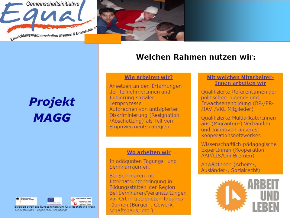 Gefördert durch das Bundesministerium für Wirtschaft und Arbeit aus Mitteln des Europäischen Sozialfonds EP ProViel welche Ergebnisse soll das Projekt erbringen wir werden mind.