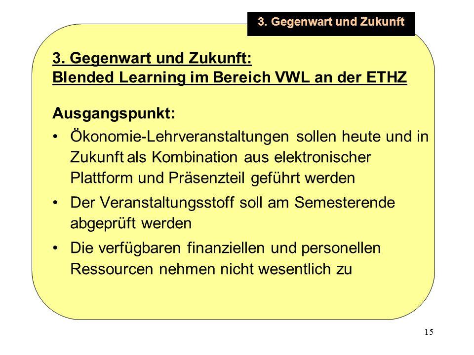 15 3. Gegenwart und Zukunft 3.