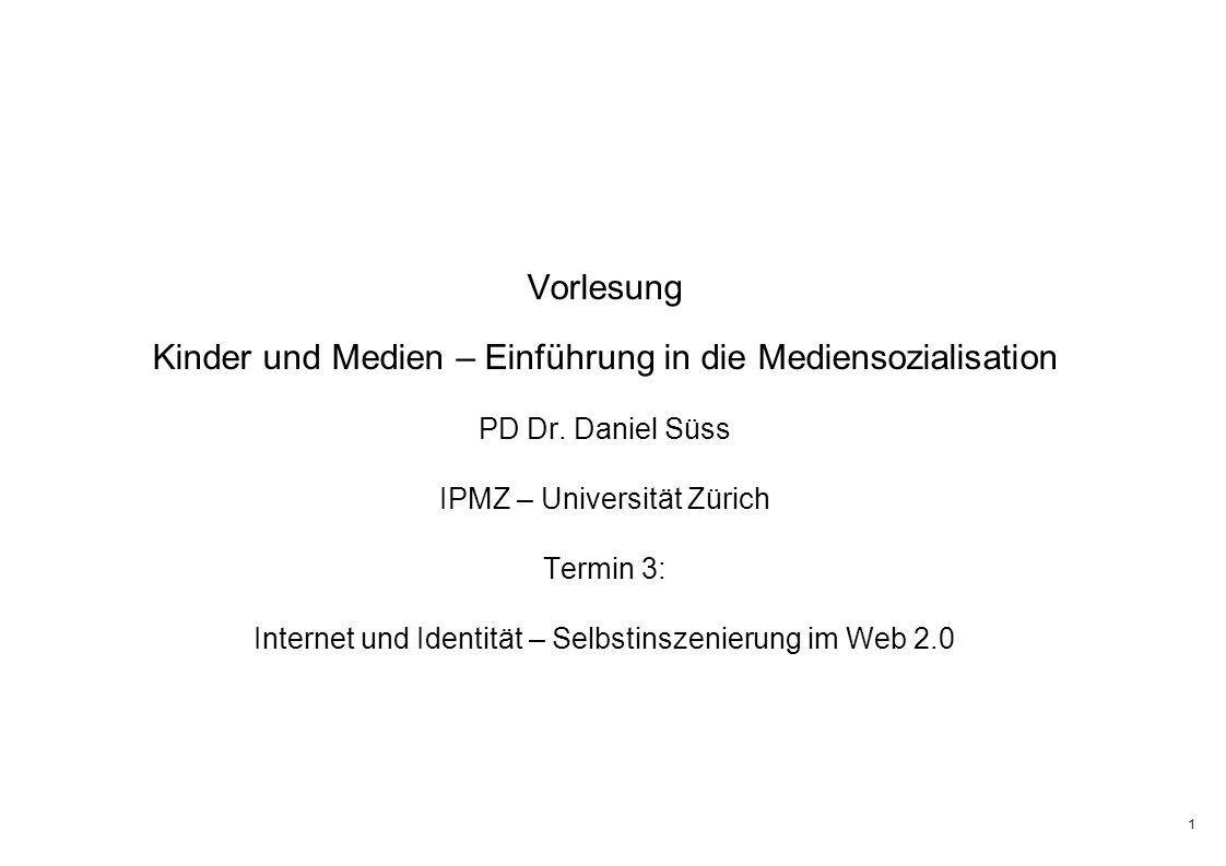 2 Das Internet als Probebühne? www.meinbild.ch www.myspace.com www.students.ch