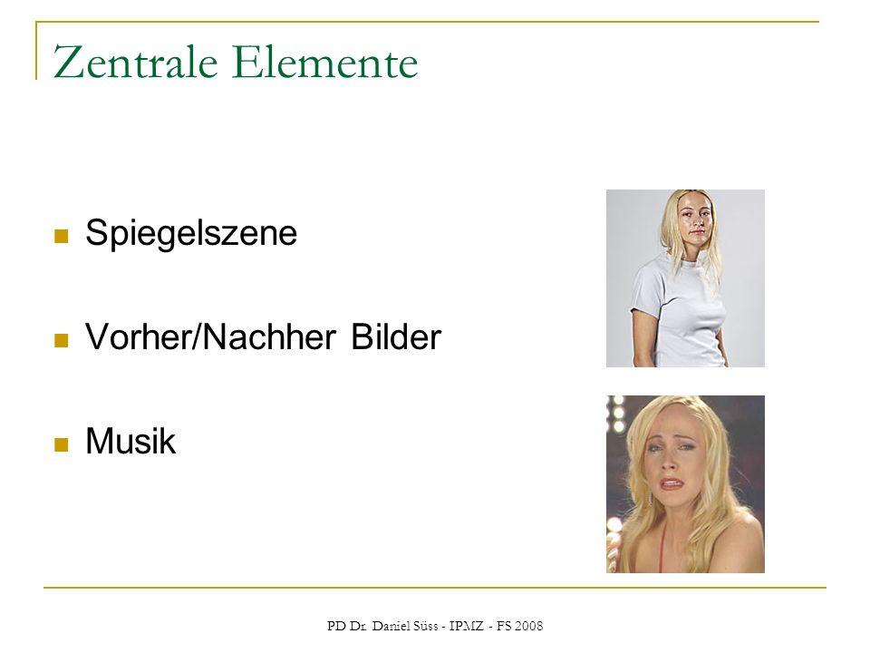 PD Dr. Daniel Süss - IPMZ - FS 2008 Zentrale Elemente Spiegelszene Vorher/Nachher Bilder Musik