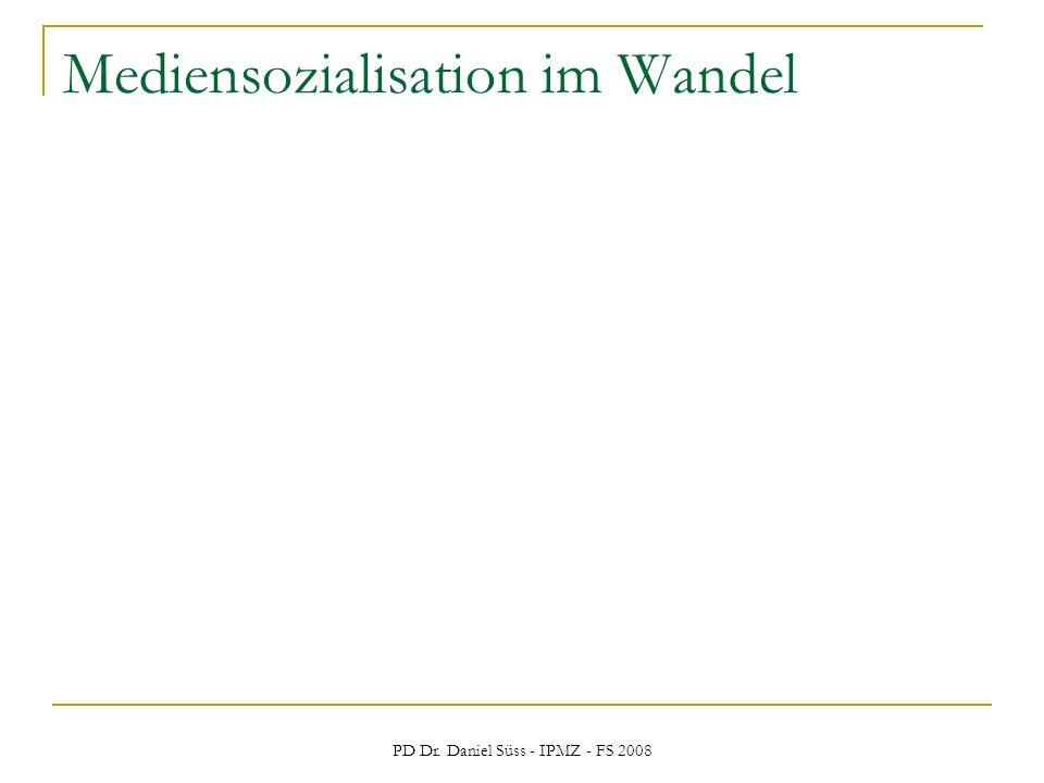 PD Dr. Daniel Süss - IPMZ - FS 2008 Mediensozialisation im Wandel