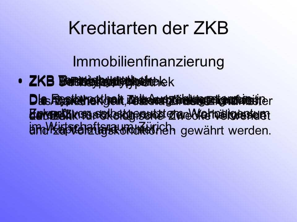 ZKB 3-Phasen Hypothek Die Hypothek mit Zinsvergünstigung zum Erwerb von selbstgenutztem Wohneigentum im Wirtschaftsraum Zürich. Immobilienfinanzierung