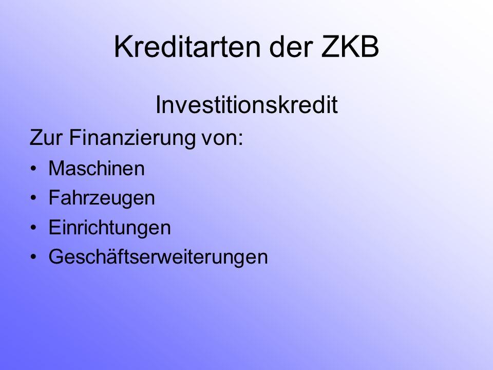 Investitionskredit Zur Finanzierung von: Maschinen Fahrzeugen Einrichtungen Geschäftserweiterungen