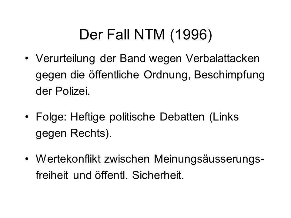 NTM - in Beispiel für sprachliche Vieldeutigkeiten im Rap Nique ta mère = Beleidigung (Niquer = sexuell besitzen) Im Alltag: Nique ta mère = Hau ab.