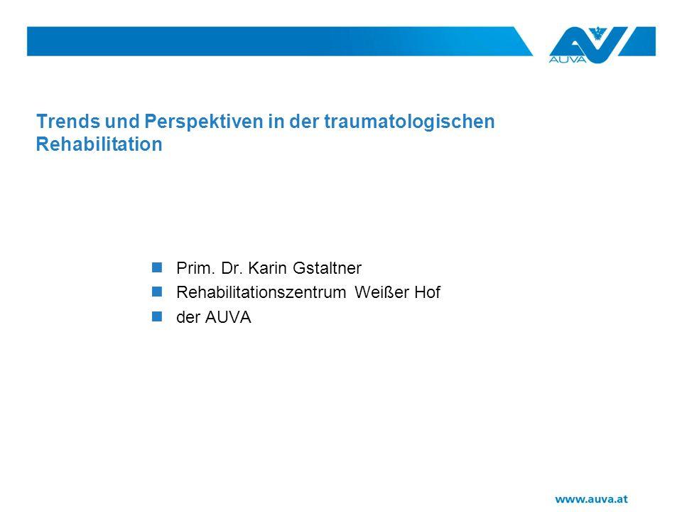 Trends und Perspektiven in der traumatologischen Rehabilitation Prim.