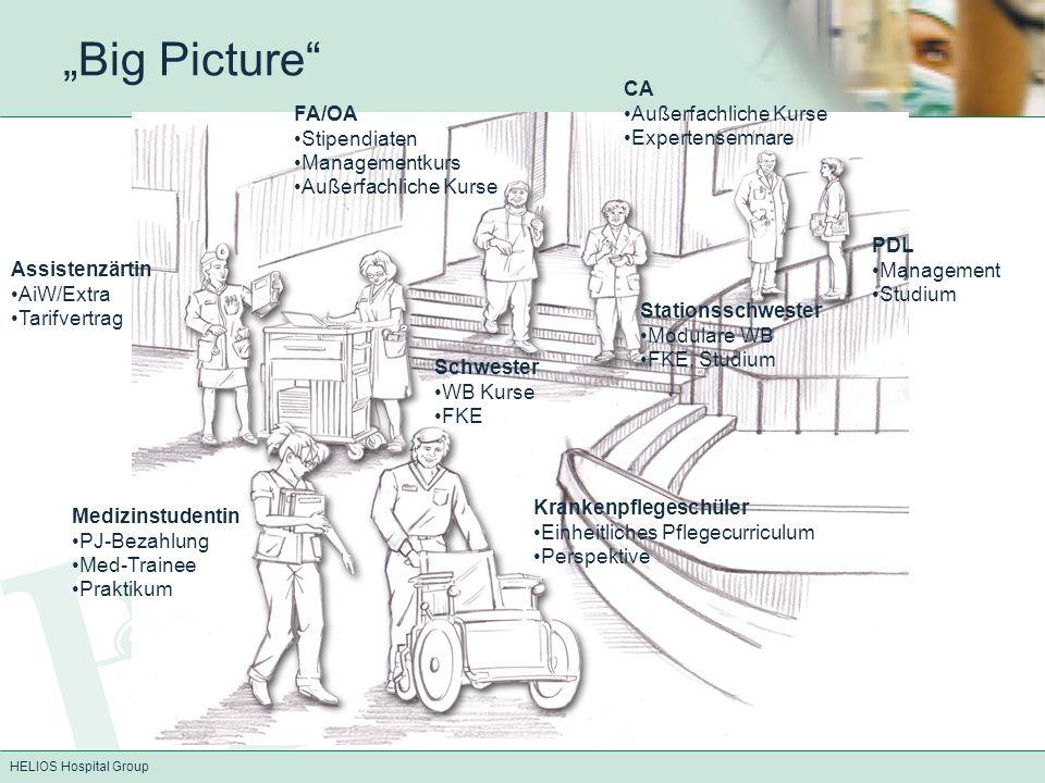 HELIOS Hospital Group Big Picture Medizinstudentin PJ-Bezahlung Med-Trainee Praktikum Krankenpflegeschüler Einheitliches Pflegecurriculum Perspektive