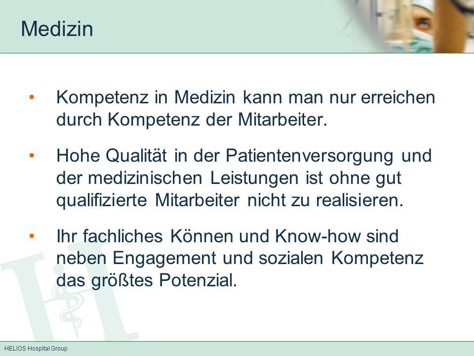 HELIOS Hospital Group AiW Befragung Befragung der AiW im HELIOS Konzern zur Zufriedenheit mit der Weiterbildungssituation Vergleich der Zufriedenheit mit der Weiterbildungssituation HELIOS/Schweiz, um Stärken, Schwachstellen und Verbesserungspotentiale aufzeigen Schweizer Fragebogen (Sozialforschungsstelle der Universität Zürich), modifiziert für HELIOS Kliniken Die Fragebögen wurden an AiW der HELIOS Kliniken und an ehemalige Assistenzärzte (EXIT-Befragung) der HELIOS Kliniken versendet.