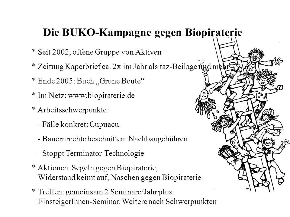Die BUKO-Kampagne gegen Biopiraterie * Seit 2002, offene Gruppe von Aktiven * Zeitung Kaperbrief ca.