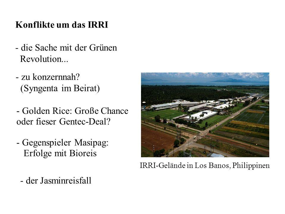 Konflikte um das IRRI - die Sache mit der Grünen Revolution...
