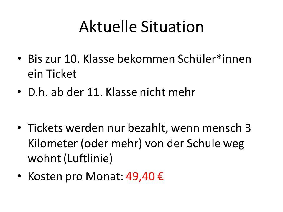 Was ist das Problem daran, dass Fahrkarten nur bis zur 10.