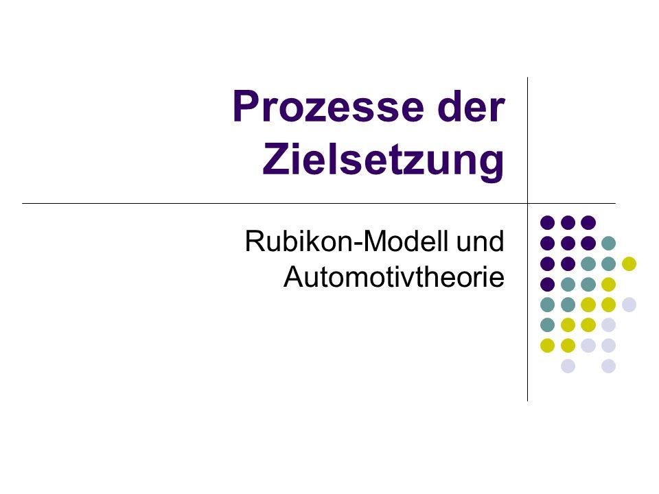 Prozesse der Zielsetzung Rubikon-Modell und Automotivtheorie