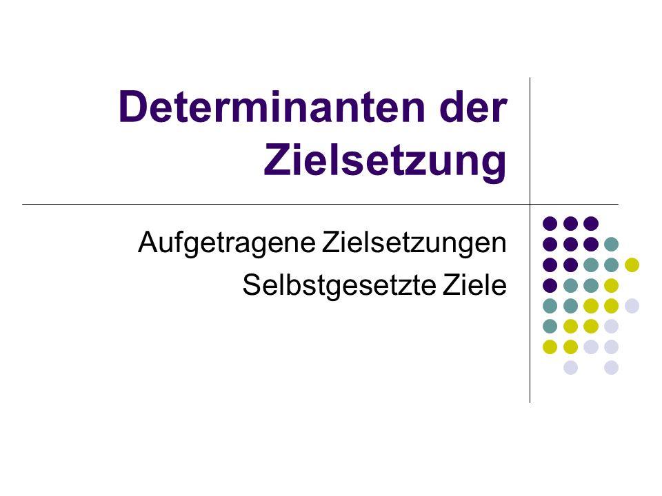 20.05.2003Transfersicherung - Umsetzungsstrategien & Willentliche Kontrolle 5 Aufgetragene Zielsetzungen Übernahme von aufgetragenen Zielen alspersönlich verbindliche Ziele ist abhängig von: - Wer trägt wem Ziele auf.