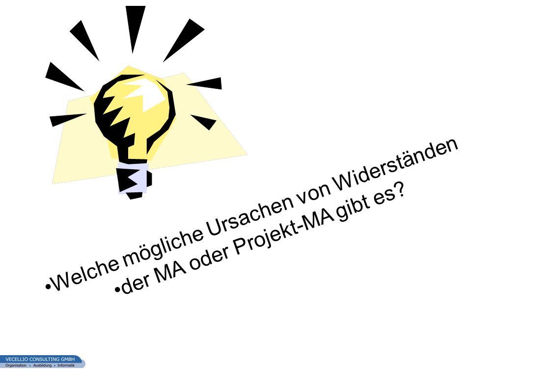 wwgs1.ch Welche mögliche Ursachen von Widerständen der MA oder Projekt-MA gibt es?