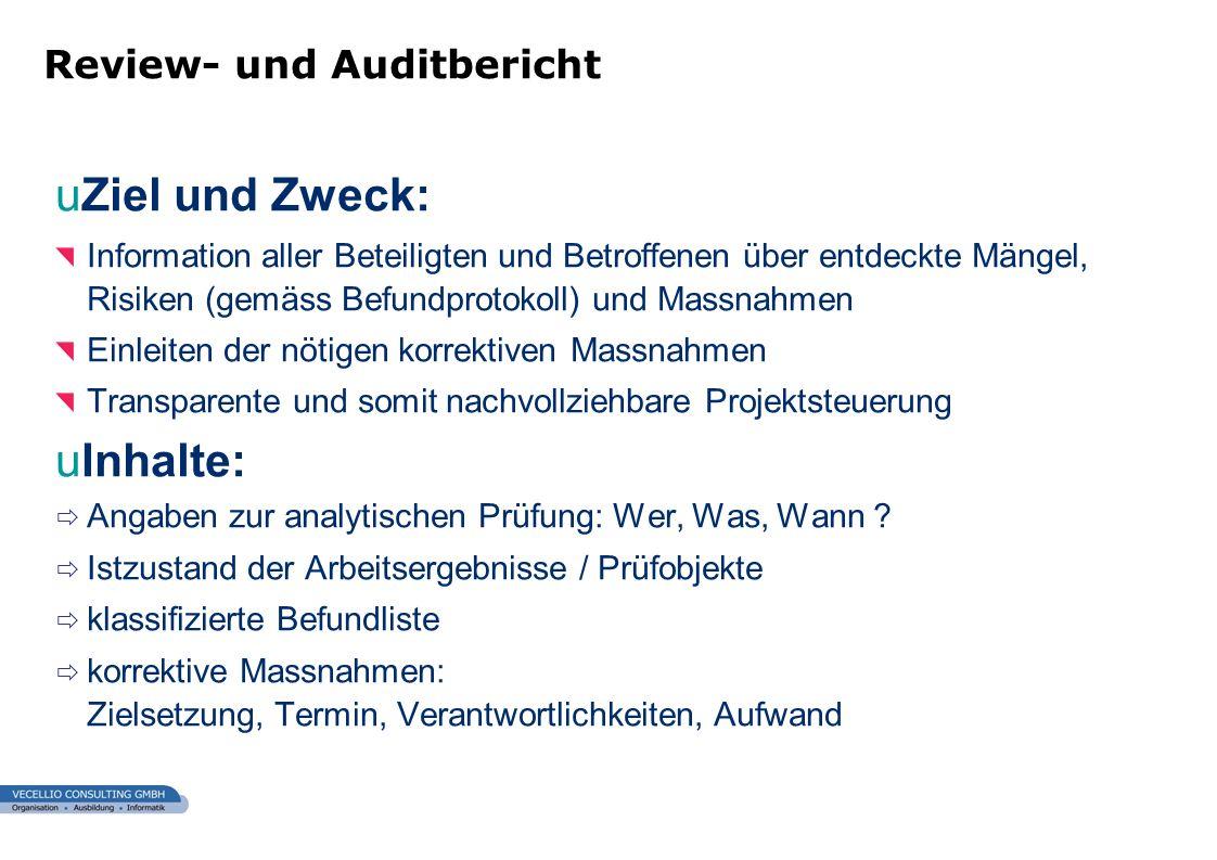 wwgs1.ch uZiel und Zweck: Information aller Beteiligten und Betroffenen über entdeckte Mängel, Risiken (gemäss Befundprotokoll) und Massnahmen Einleit