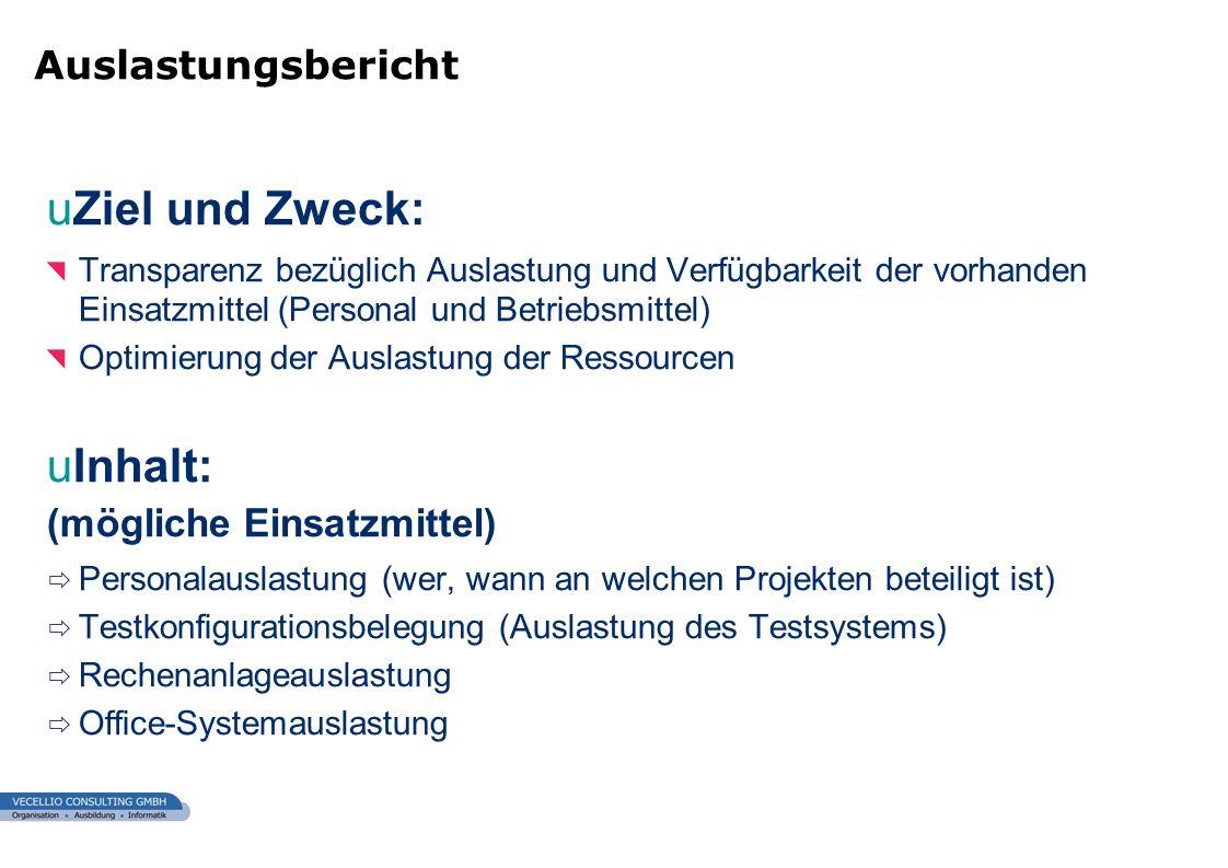 wwgs1.ch uZiel und Zweck: Transparenz bezüglich Auslastung und Verfügbarkeit der vorhanden Einsatzmittel (Personal und Betriebsmittel) Optimierung der