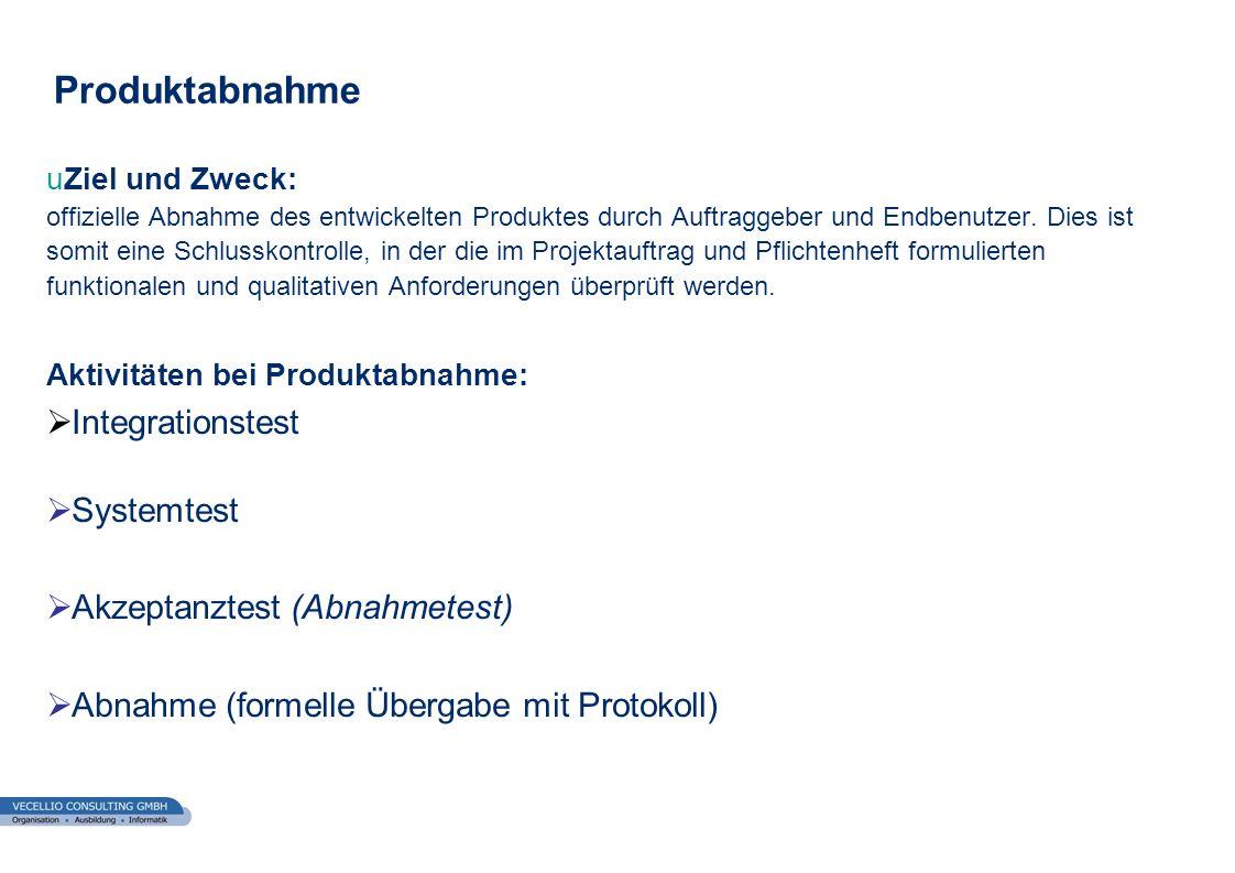 wwgs1.ch Produktabnahme uZiel und Zweck: offizielle Abnahme des entwickelten Produktes durch Auftraggeber und Endbenutzer. Dies ist somit eine Schluss