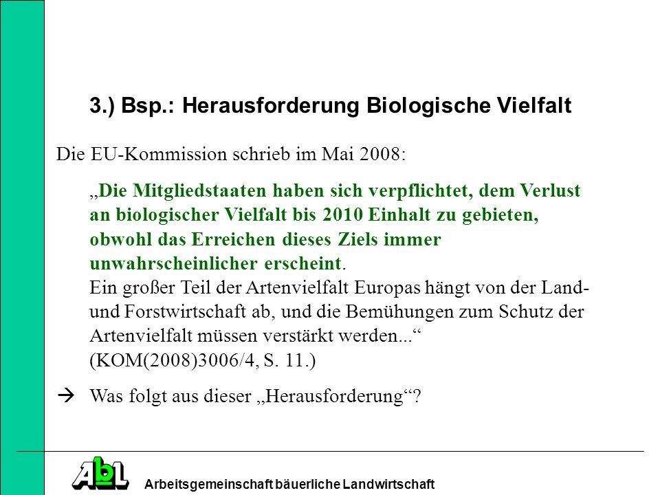 Arbeitsgemeinschaft bäuerliche Landwirtschaft 5.) Einkommensfunktion von Direktzahlungen.
