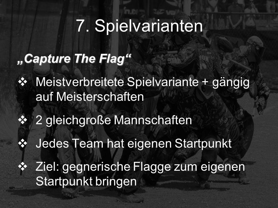 Center Flag Ähnlich wie Capture The Flag nur 1 Flagge in der Mitte des Spielfeldes Ziel: Flagge zu erreichen (Reißen) + zum eigenen Startpunkt zu bringen (Hängen)