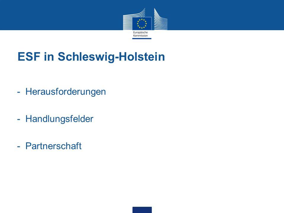 ESF in Schleswig-Holstein - Herausforderungen - Handlungsfelder - Partnerschaft