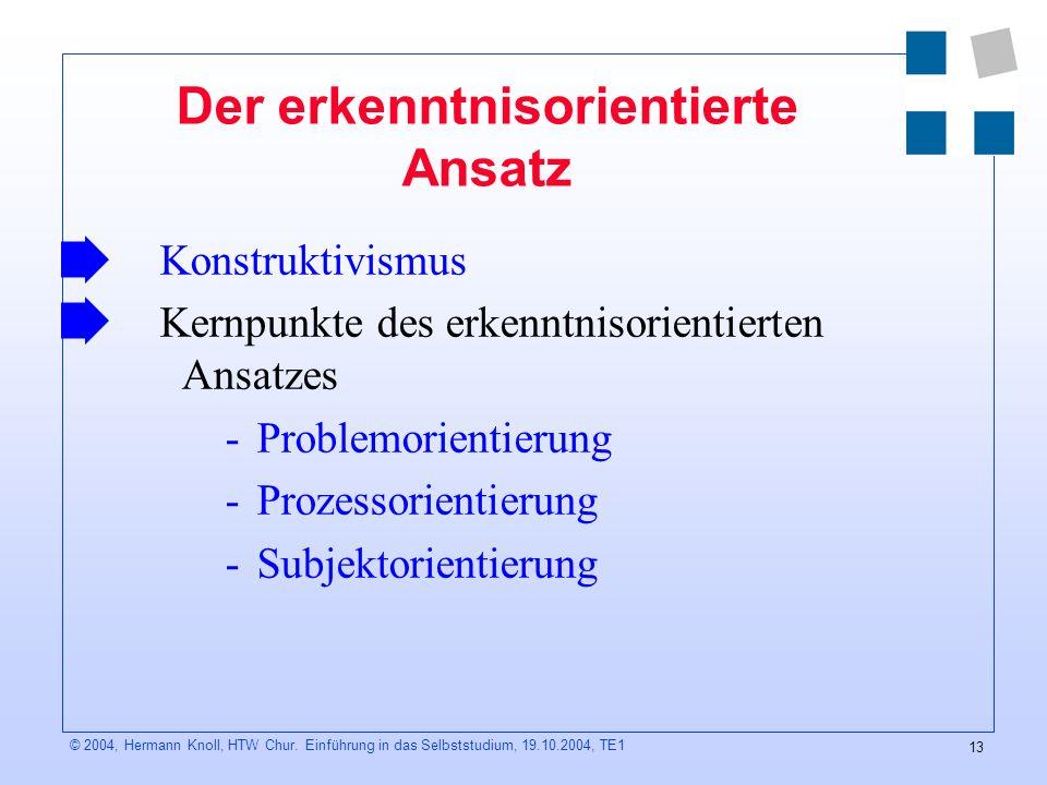 13 © 2004, Hermann Knoll, HTW Chur.