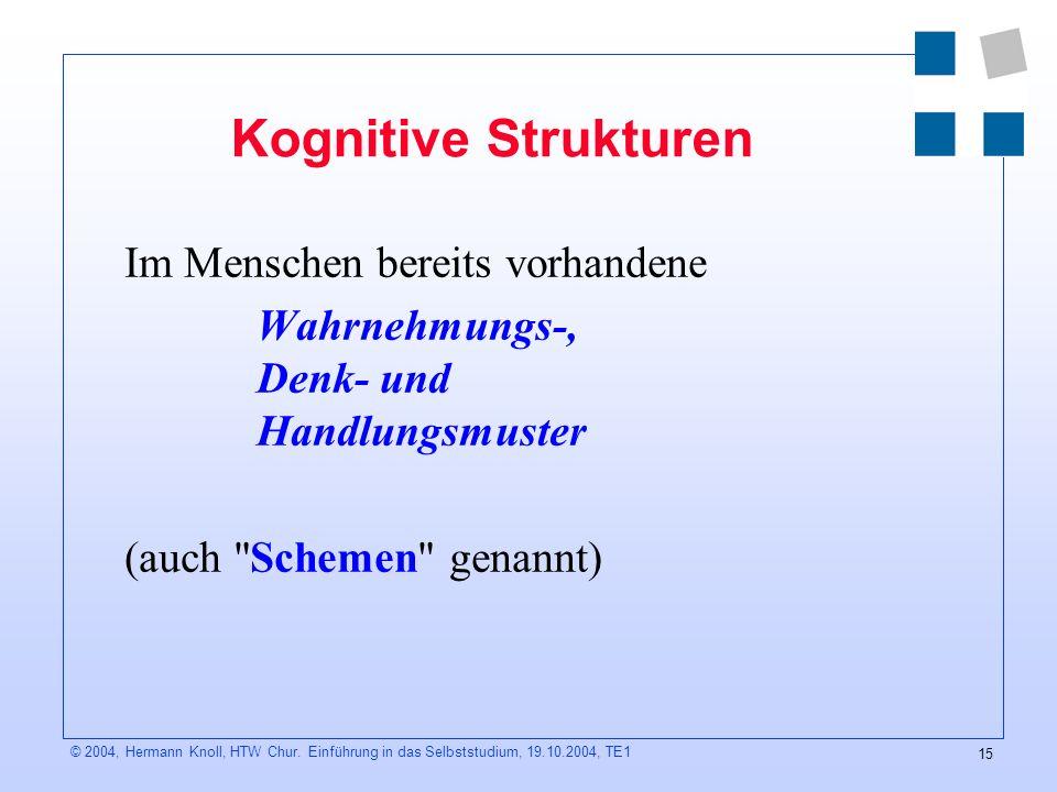 15 © 2004, Hermann Knoll, HTW Chur.