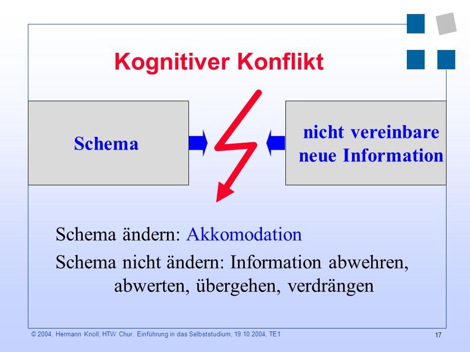 17 © 2004, Hermann Knoll, HTW Chur.