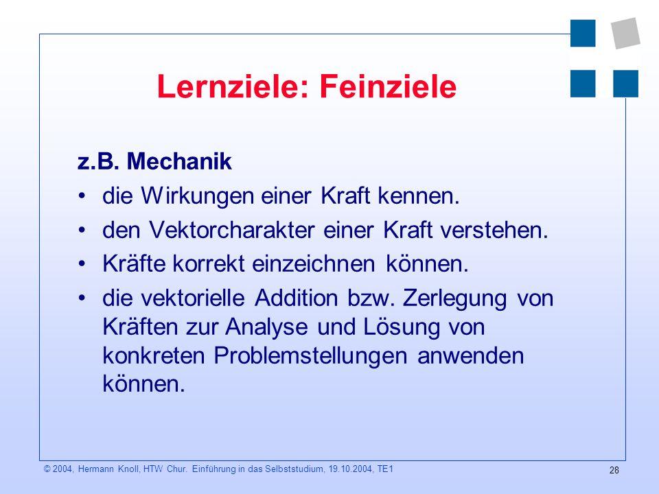 28 © 2004, Hermann Knoll, HTW Chur.