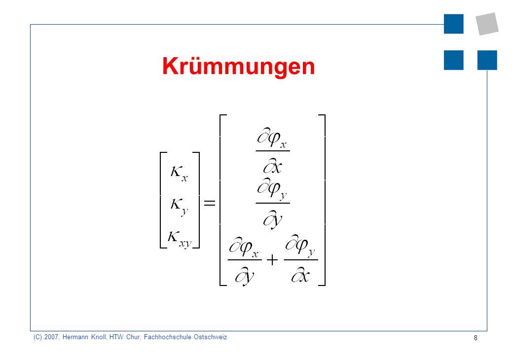 8 (C) 2007, Hermann Knoll, HTW Chur, Fachhochschule Ostschweiz Krümmungen
