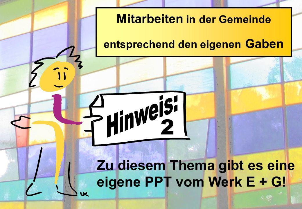 Zu diesem Thema gibt es eine eigene PPT vom Werk E + G.