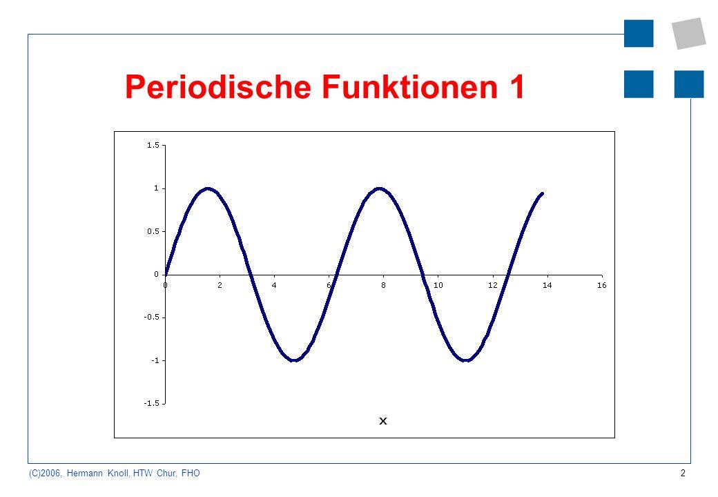 3 (C)2006, Hermann Knoll, HTW Chur, FHO Periodische Funktionen 2