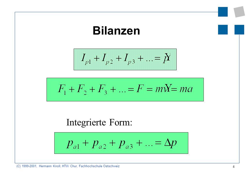 4 (C) 1999-2001, Hermann Knoll, HTW Chur, Fachhochschule Ostschweiz Bilanzen Integrierte Form: