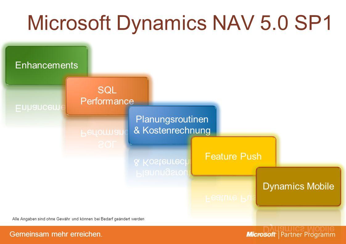 © degroupwww.degroup.de Gemeinsam mehr erreichen. Microsoft Dynamics NAV 5.0 SP1 Alle Angaben sind ohne Gewähr und können bei Bedarf geändert werden