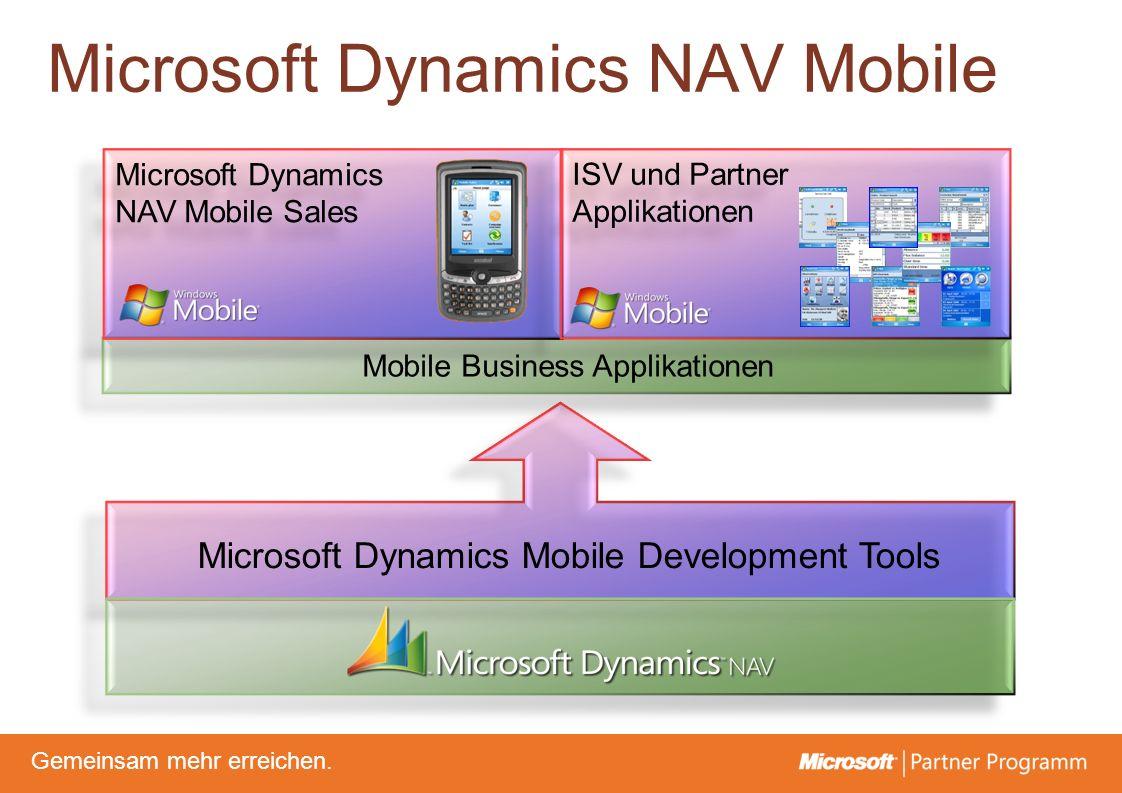 © degroupwww.degroup.de Gemeinsam mehr erreichen. Microsoft Dynamics NAV Mobile Sales Microsoft Dynamics NAV Mobile Sales ISV und Partner Applikatione