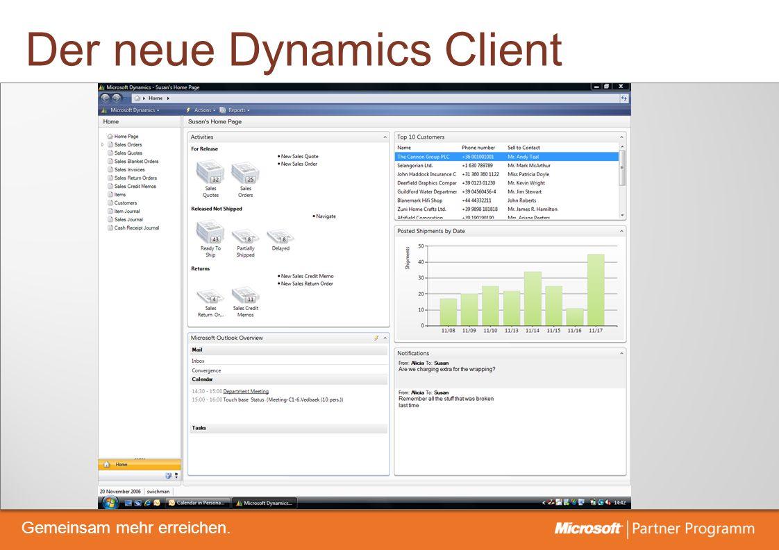 © degroupwww.degroup.de Gemeinsam mehr erreichen. Der neue Dynamics Client