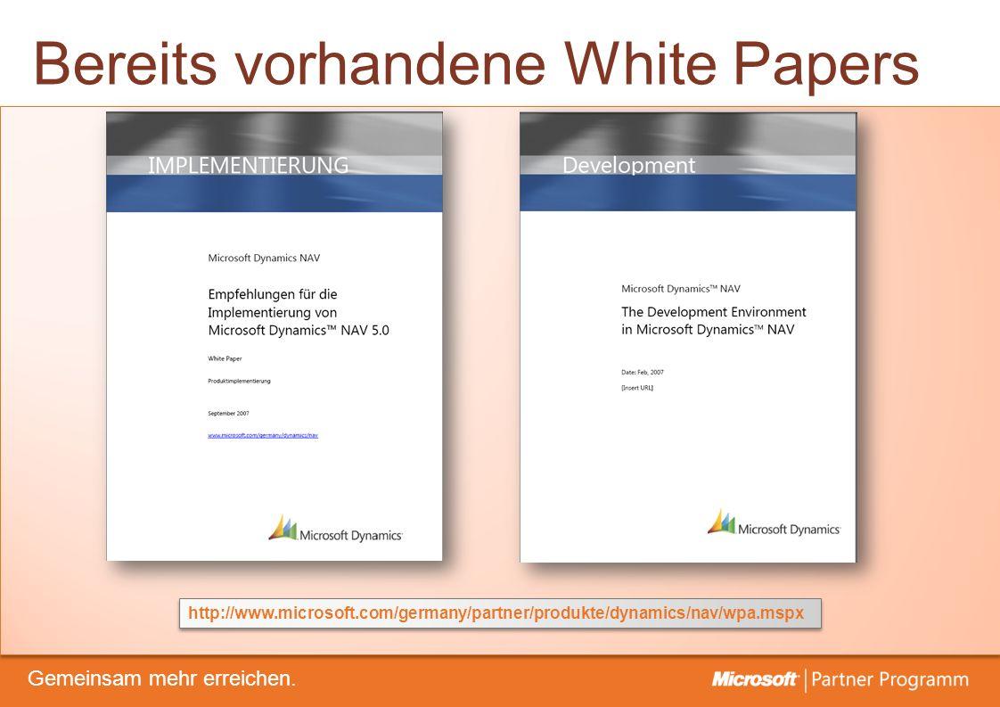 © degroupwww.degroup.de Gemeinsam mehr erreichen. Bereits vorhandene White Papers http://www.microsoft.com/germany/partner/produkte/dynamics/nav/wpa.m
