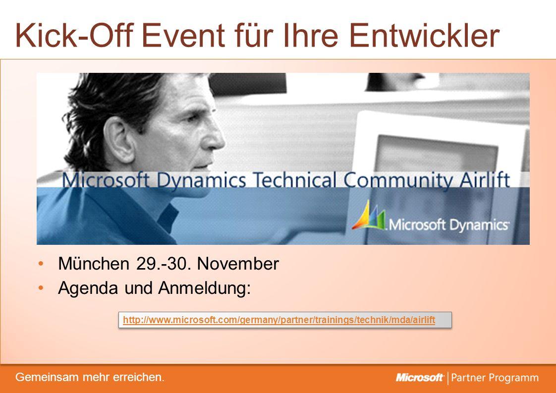 © degroupwww.degroup.de Gemeinsam mehr erreichen. Kick-Off Event für Ihre Entwickler http://www.microsoft.com/germany/partner/trainings/technik/mda/ai