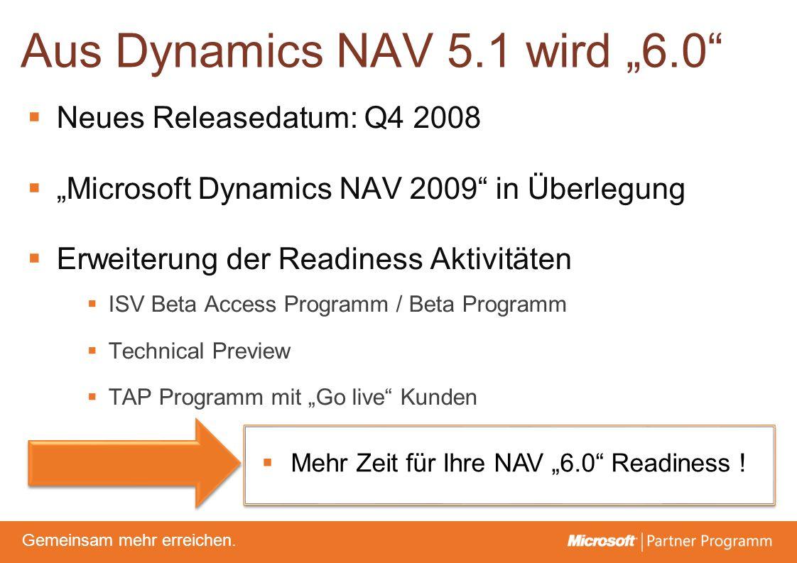 © degroupwww.degroup.de Gemeinsam mehr erreichen. Aus Dynamics NAV 5.1 wird 6.0 Neues Releasedatum: Q4 2008 Microsoft Dynamics NAV 2009 in Überlegung