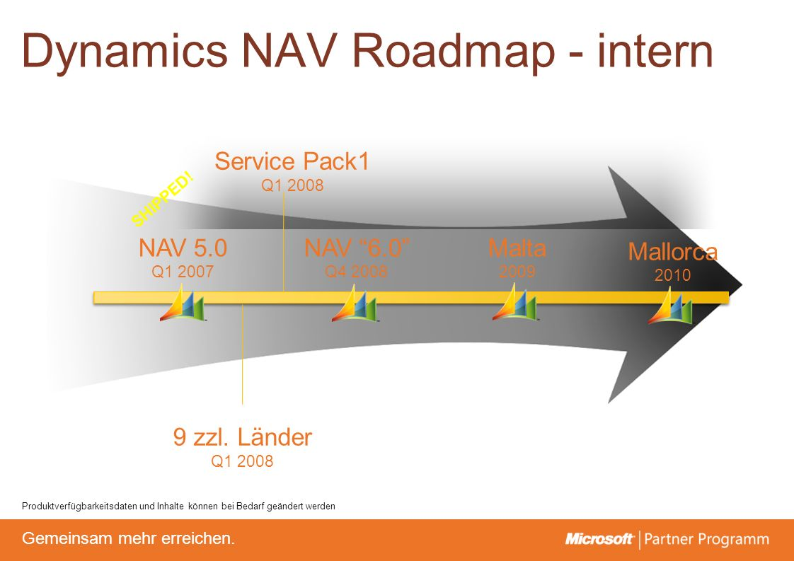 © degroupwww.degroup.de Gemeinsam mehr erreichen. Dynamics NAV Roadmap - intern SHIPPED! NAV 5.0 Q1 2007 NAV 6.0 Q4 2008 Malta 2009 Mallorca 2010 9 zz