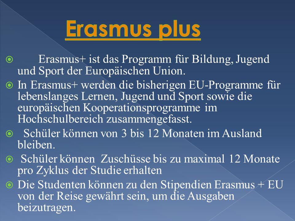 Erasmus+ ist das Programm für Bildung, Jugend und Sport der Europäischen Union.