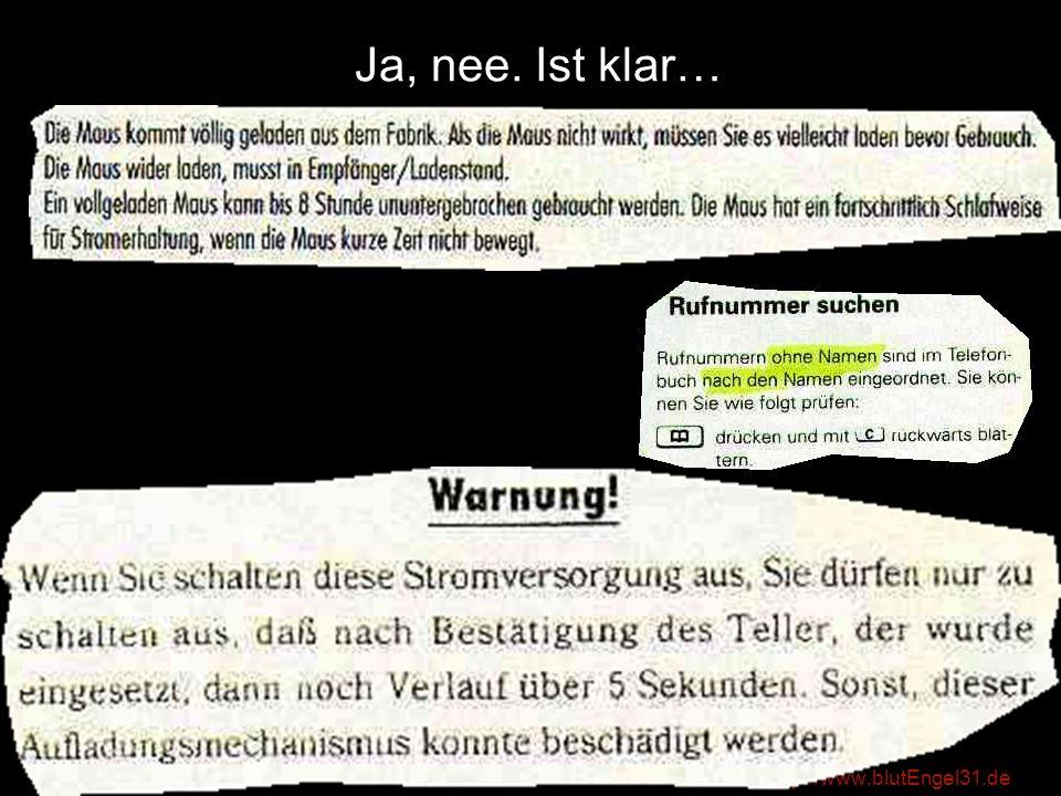 http://www.blutEngel31.de …so etwas sollte nicht vorkommen.