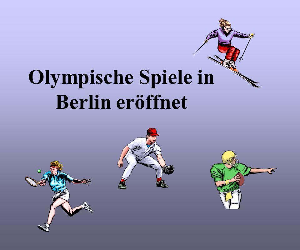 Am 1.August 1936 eröffnet Adolf Hitler die XI. Olympischen Sommerspiele in Berlin.