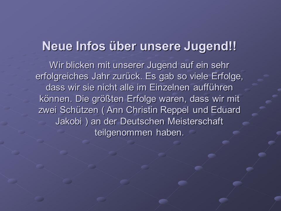 Neue Infos über unsere Jugend!.