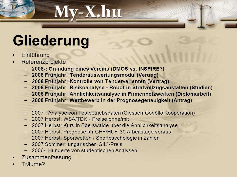 INNOCSEKK 156/2006 Gliederung Einführung Referenzprojekte –2008-: Gründung eines Vereins (DMOS vs.