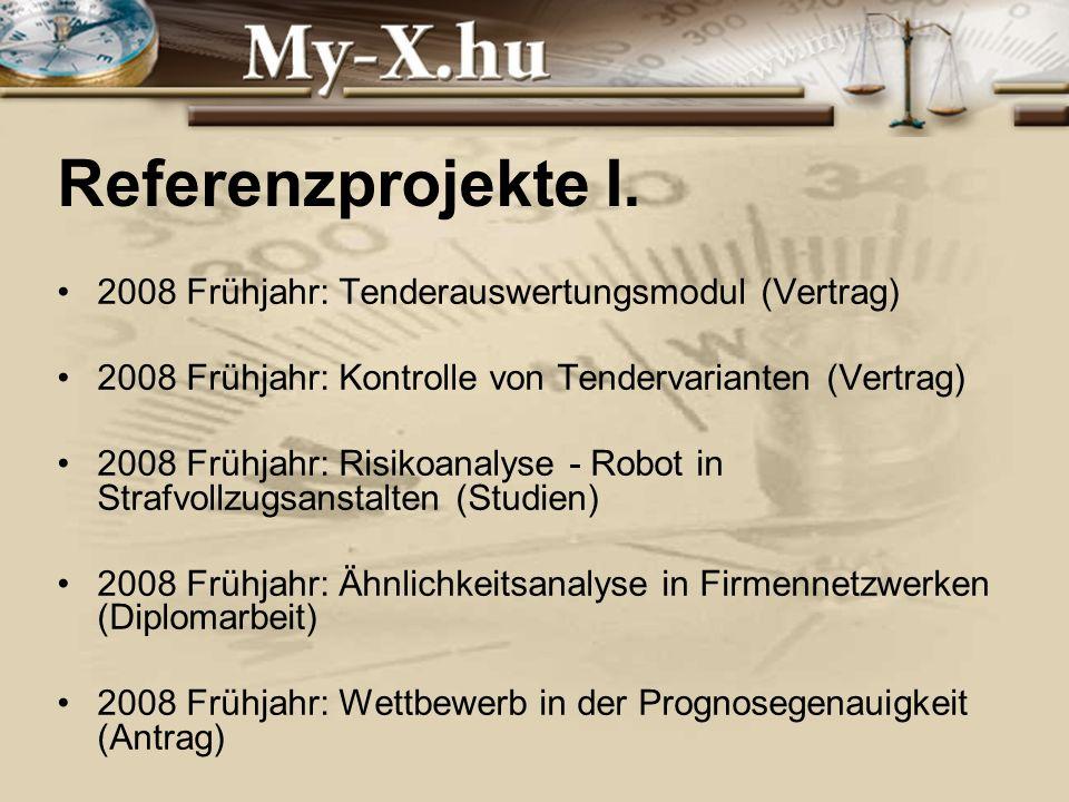 INNOCSEKK 156/2006 Referenzprojekte I.