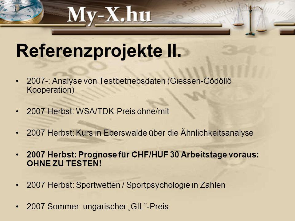 INNOCSEKK 156/2006 Referenzprojekte II.