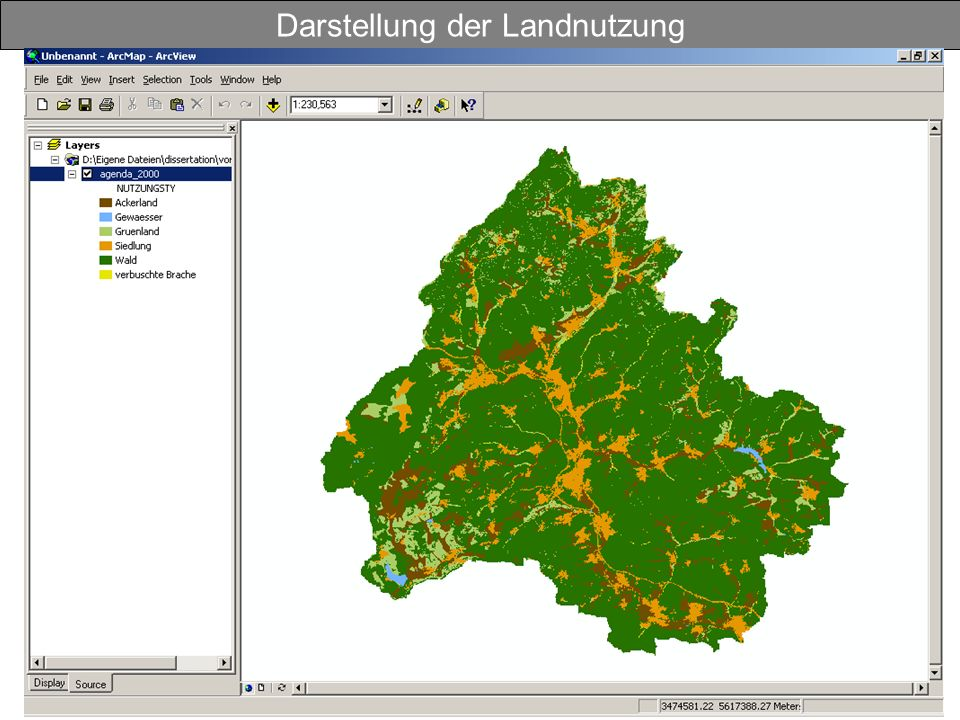 Darstellung der Landnutzung