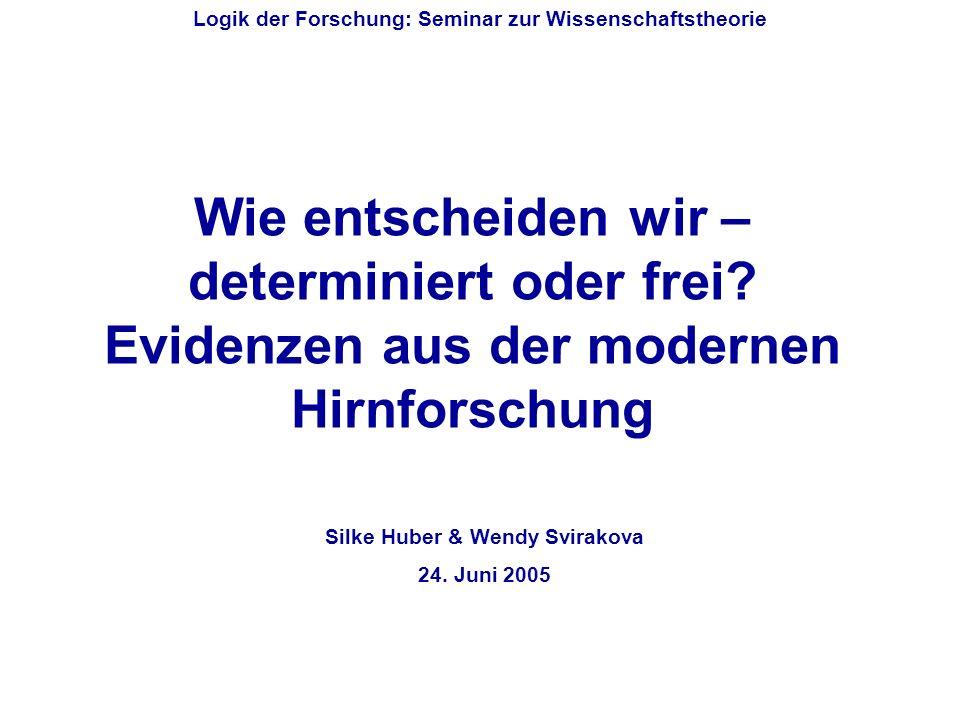 Gliederung Erkenntnisse der modernen Hirnforschung Recht und Soziologie Zukunftsperspektiven Seminar: Logik der Forschung (Wissenschaftstheorie) Einleitung