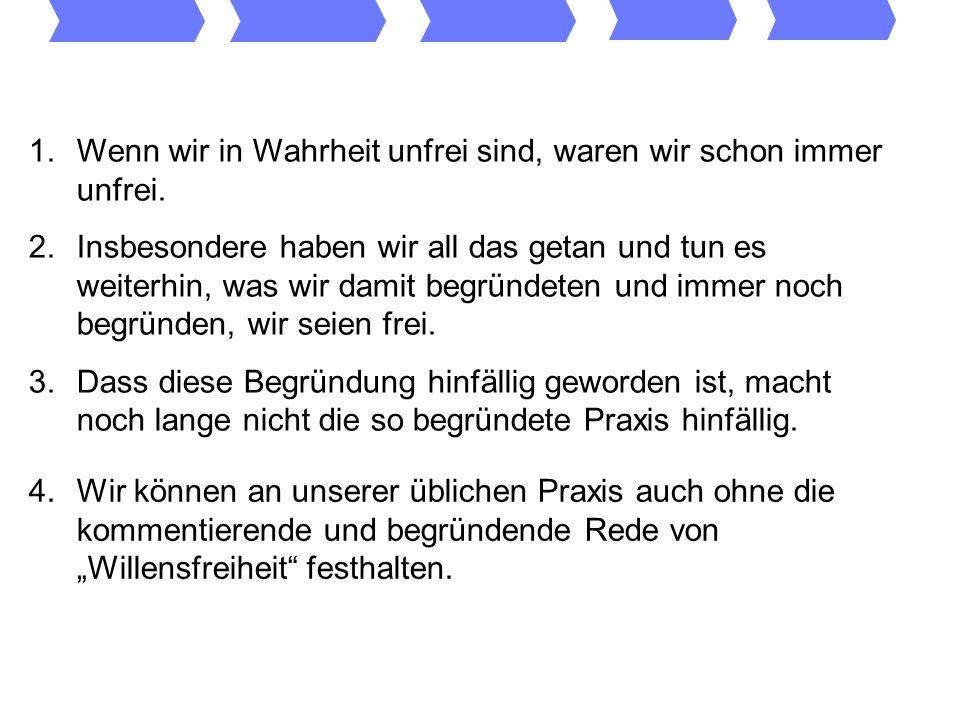 Setze in Zukunft einmal folgende Sätze auf Deinen privaten Index der verbotenen Sätze: Ich bin frei.
