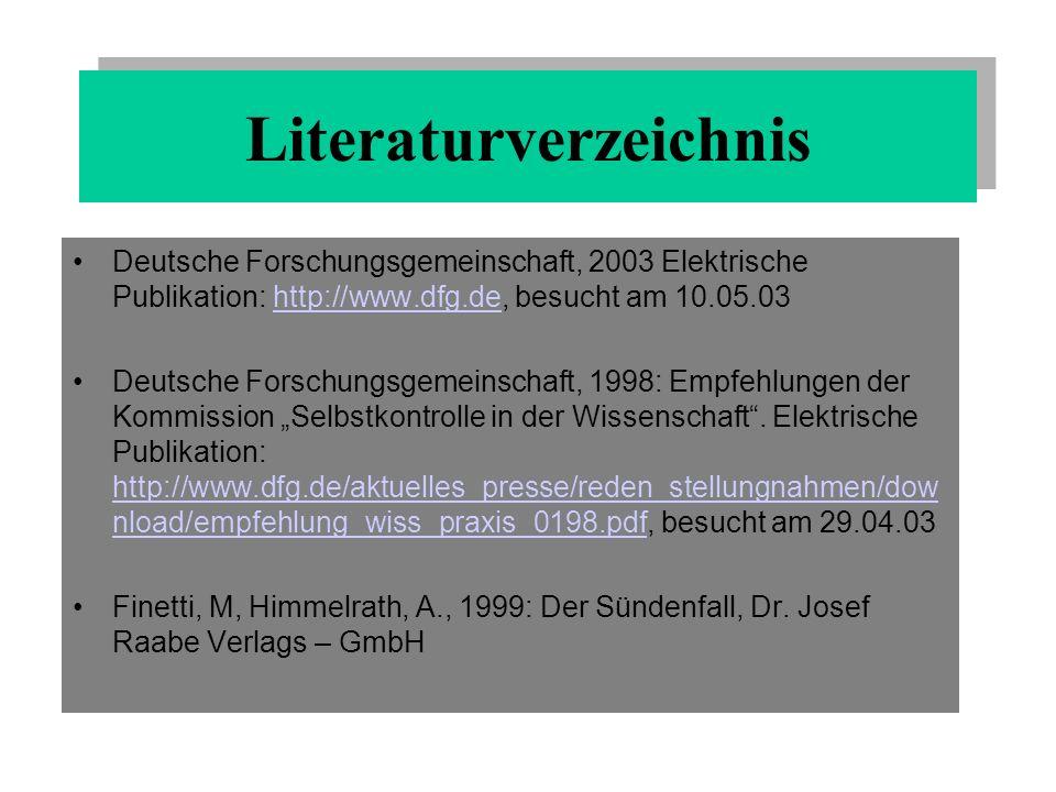 Frühwald, W.: Wider die Unredlichkeit in Bild der Wissenschaft, 1999, http://www.bild- derwissenschaft.de/bdw/bdwlive//show.php3, besucht am 26.04.03 http://www.bild- derwissenschaft.de/bdw/bdwlive//show.php3 Hochschulrektorenkonferenz, 1998: Zum Umgang mit wissenschaftlichem Fehlverhalten in den Hochschulen.